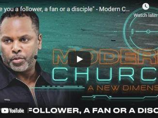 "Pastor Touré Roberts Sermon: ""Are you a follower, a fan or a disciple"""