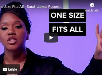 Sarah Jakes Roberts Message: One Size Fits All