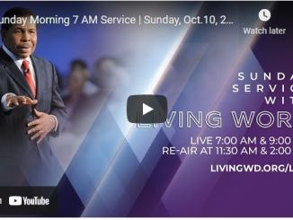 Sunday Live Service For October 10 2021