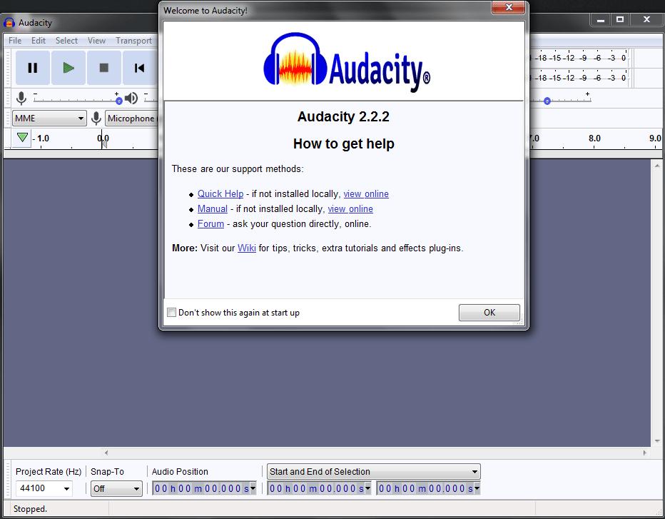 audacity noise reduction software