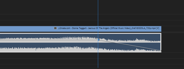 fade music in and out in Premiere Pro, Audio fade out