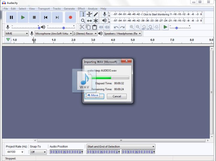 Importing audio (Audacity Audio Editing Software)
