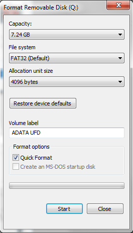 change the file system to copy large file