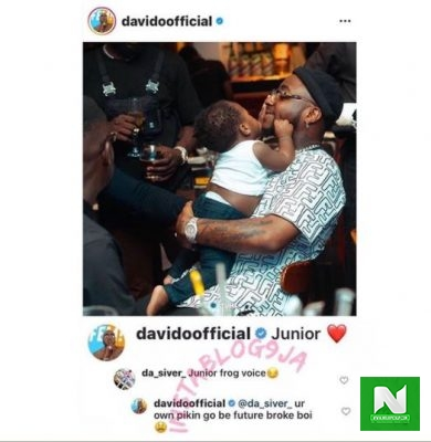 Davido-has-slammed-an-internet-user-for-trolling-his-son-Ifeanyi-Adelek