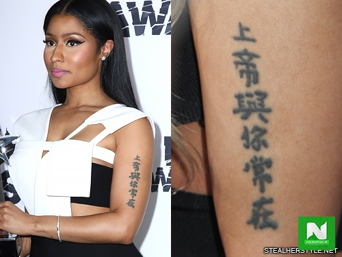 This is the meaning of the famous tattoo written on the left arm of Nicki Minaj