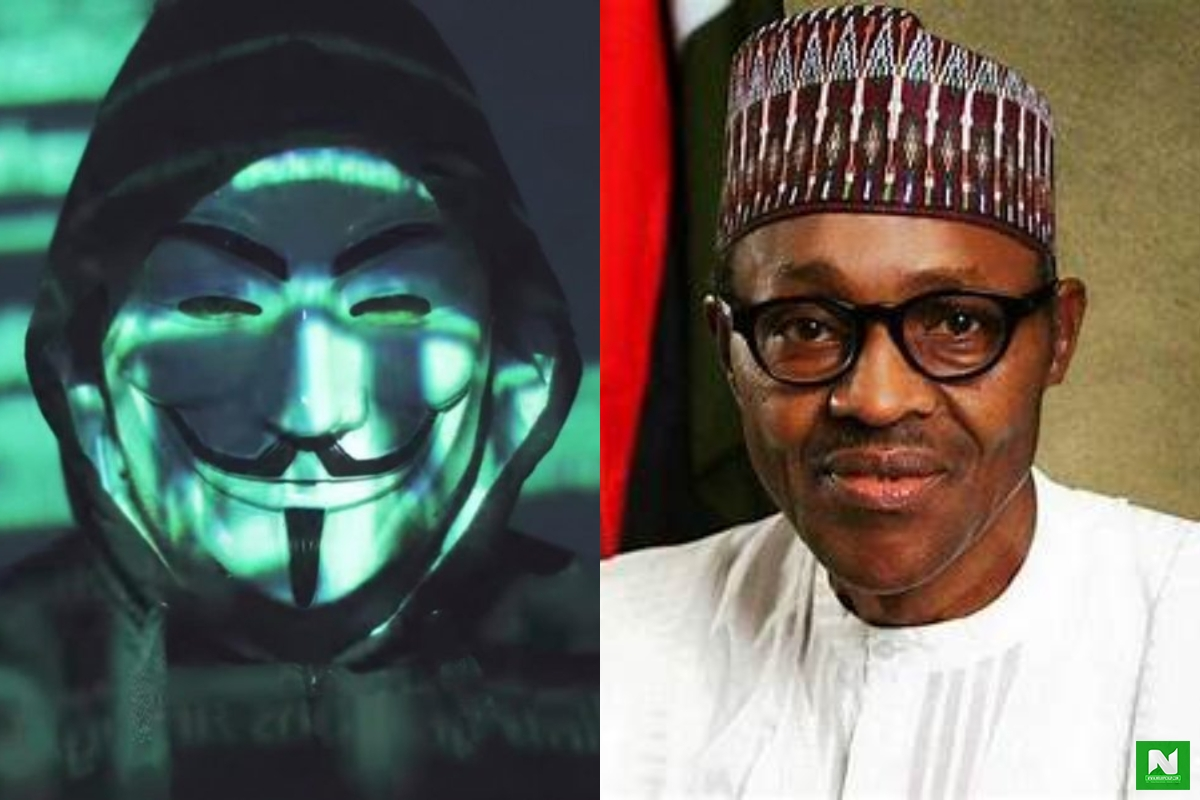 Anonymous Group Of Hackers Give President Buhari Final Warning (Video)