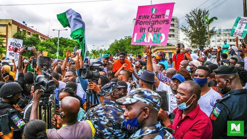 "#EndSARS: ""All Die Na Die"" – Protesters In Rivers State Scream As They Gather To Protest, Amid Ban (VIDEO)"