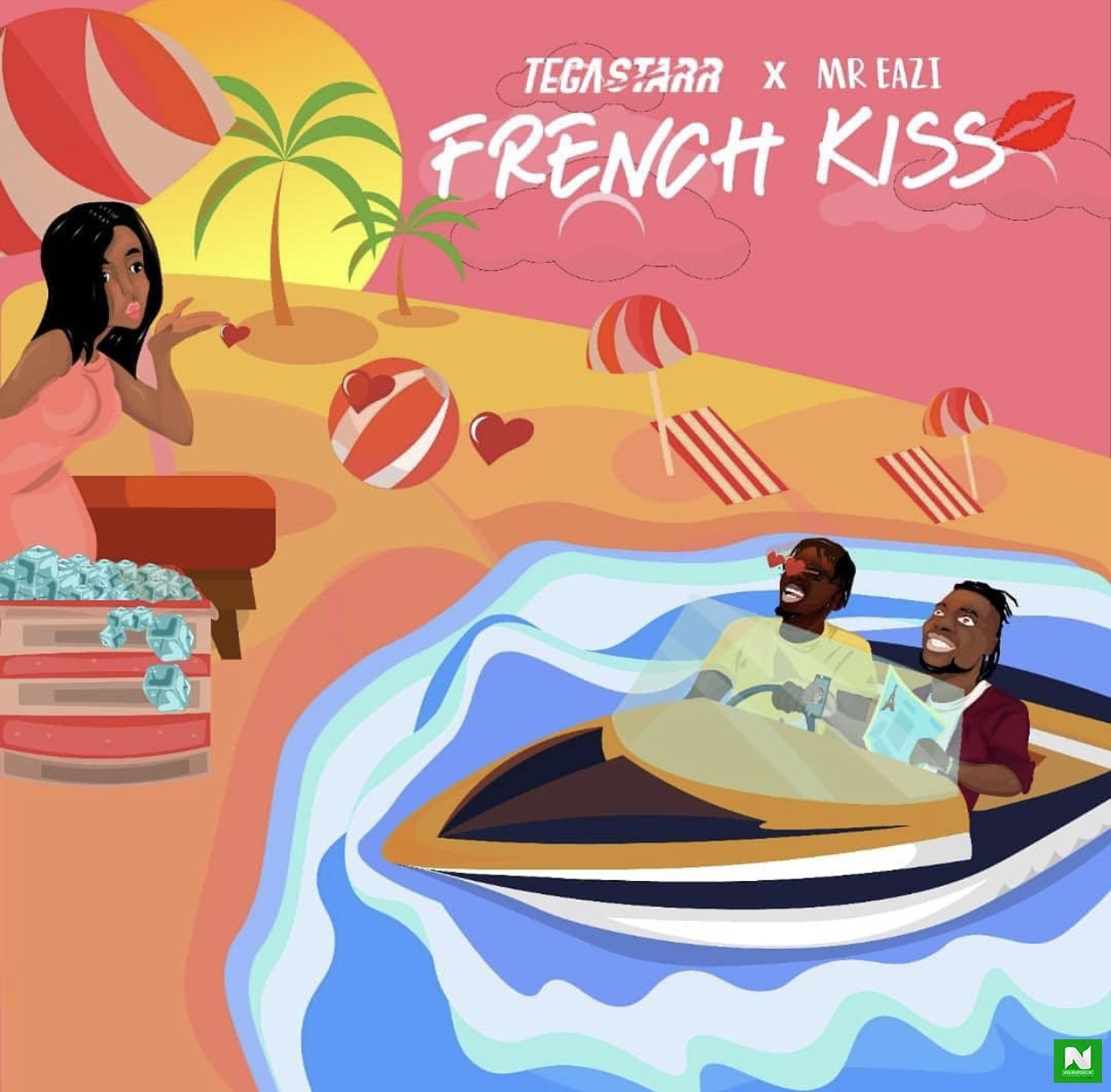 TegaStarr - French Kiss Ft Mr Eazi
