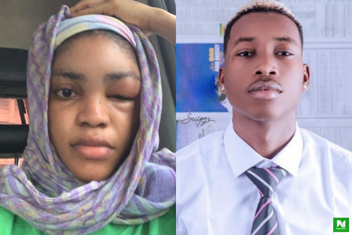 """I Didnt Sleep With His Friend, HotKid"" - Lil Froshs Girlfriend, Gift Gives Real Reason Why He Beat Her (Photos)"