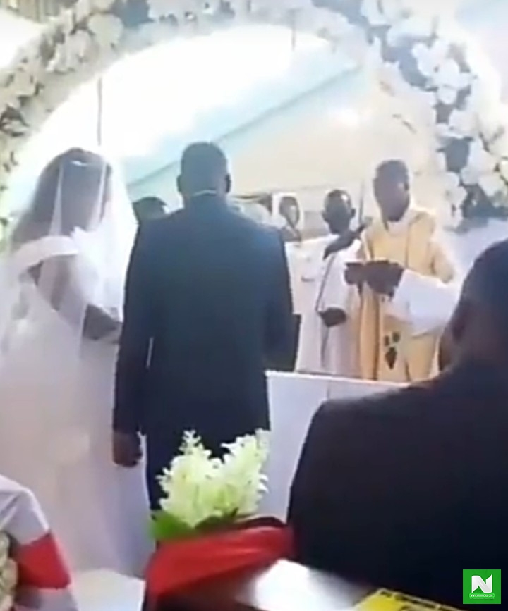 'He Is My Husband'- Nigerian Woman Interrupt An Ongoing Wedding Ceremony