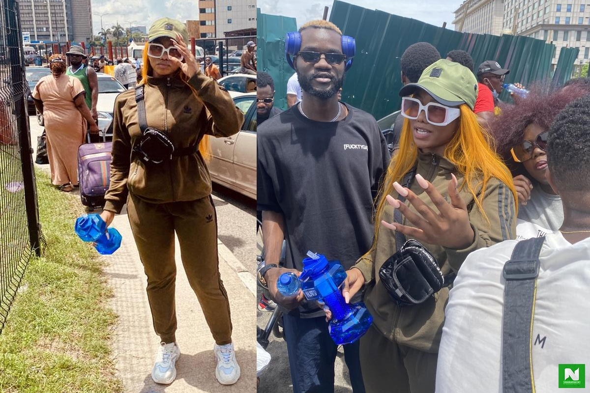 """Dirty Smelling Girl, God Punish Your Genration"" - Man Slams Tacha After She Did This At The #EndSARS Protest"