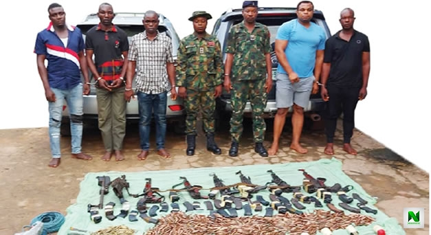 Ex-Soldiers, Others Arrested For Robbery (Photos)