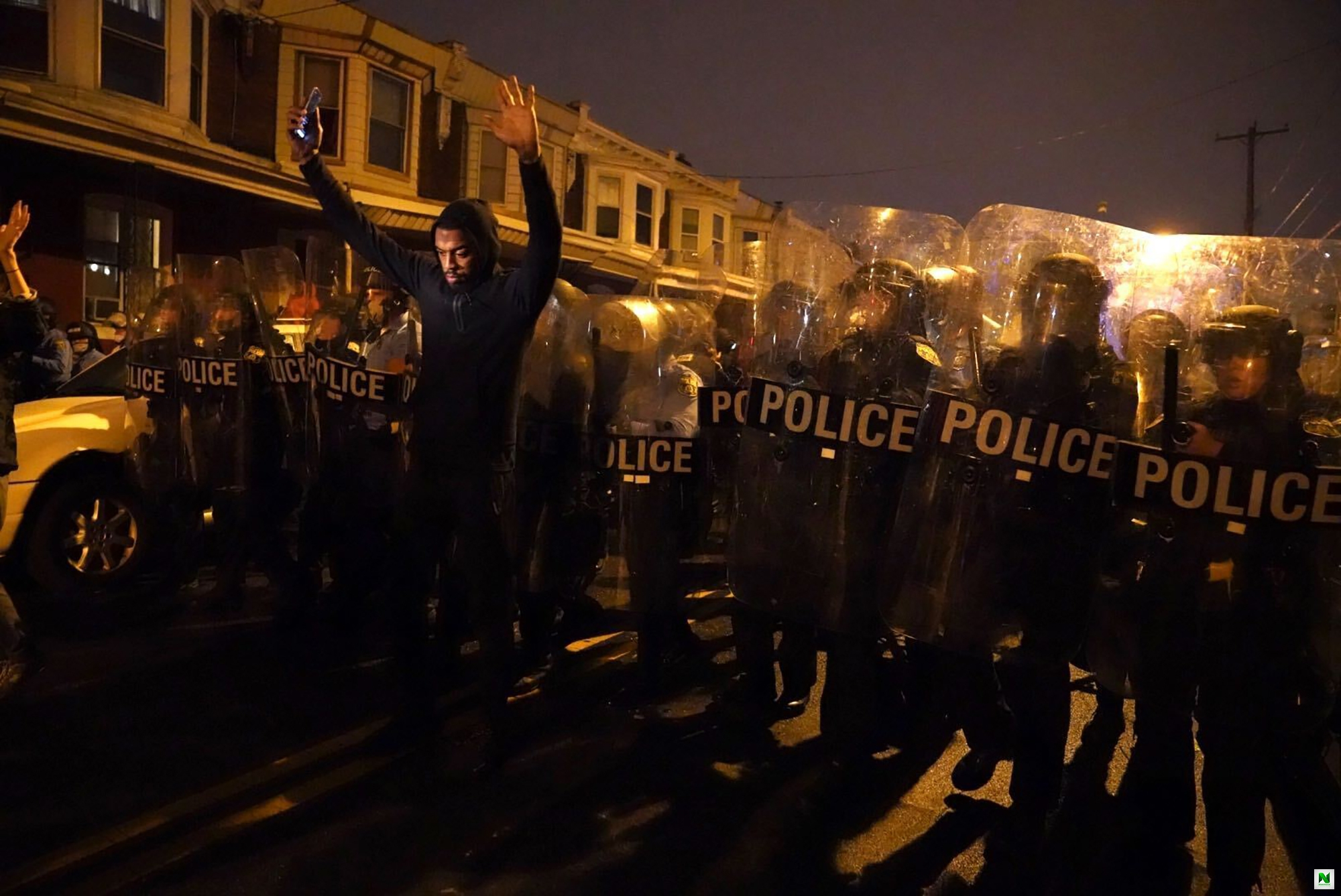 A Black American Shot Ten Times By US Police Officers, Sparks Protests (Video)