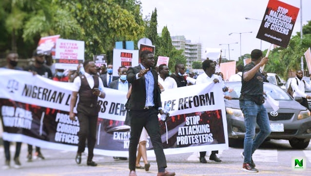 EndSARS: Lawyers Protest Against Sanwo-Olu Presiding Over Judicial Panel Of Enquiry