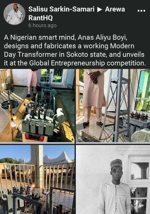 Man Designs And Fabricates A Transformer In Sokoto (Photos)