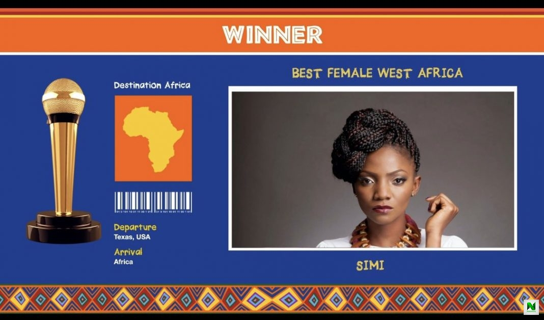 AFRIMMA 2020: Simi Wins Best Female West Africa Award