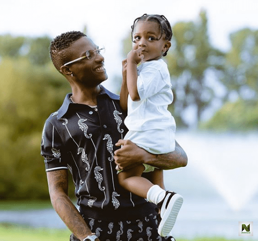Watch Adorable Video Of Wizkid's Son Zion Playing Music Instrument As He Joins His Dad In A Studio Rehearsal Session