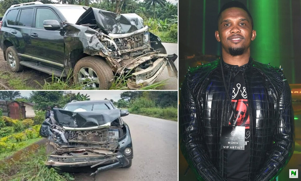 Samuel Etoo Lands In Hospital With Head Injury After Car Accident (Photos)