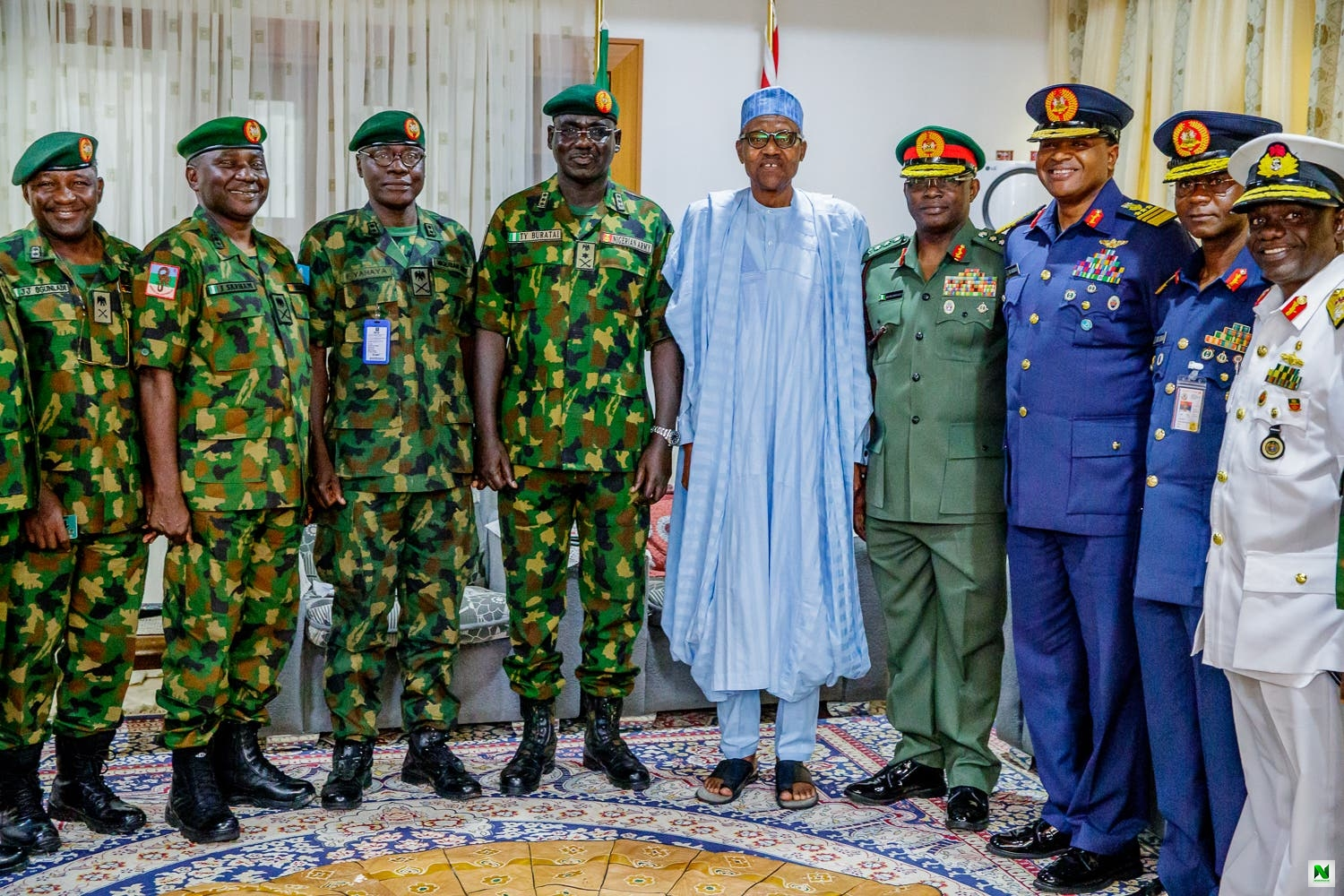 20 Generals May Go As Buhari Sacks Buratai, Service Chiefs