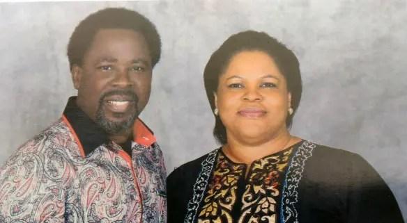 Prophet TB Joshua and wife