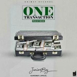 Junior Boy - One Transaction (Prod. by Rexxie) Mp3 Audio