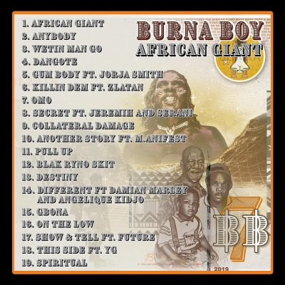 """66269856 526256801245886 9037340473627289469 n - Burna Boy Features YG, Future, Jeremih, Jorja Smith On His New """"African Giant"""" Album 