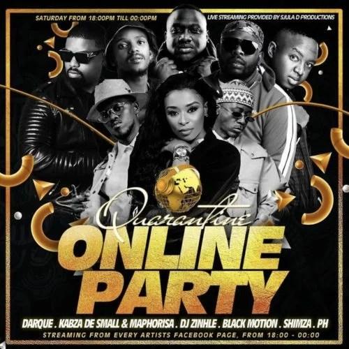 SA Quarantine Online Party Pt. 1 Ft. Kabza De Small, DJ Maphorisa, DJ Zinhle, Darque Mp3 Audio Download