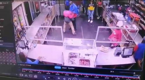 CCTV captures moment workers beat up customers for being rude (Video)