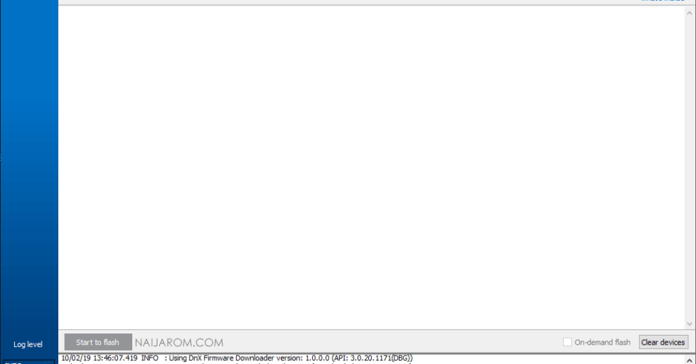 Intel Platform Flash Tool Lite v5.8.4.0