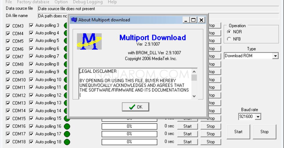 Multiport Download Tool v2.9.1007