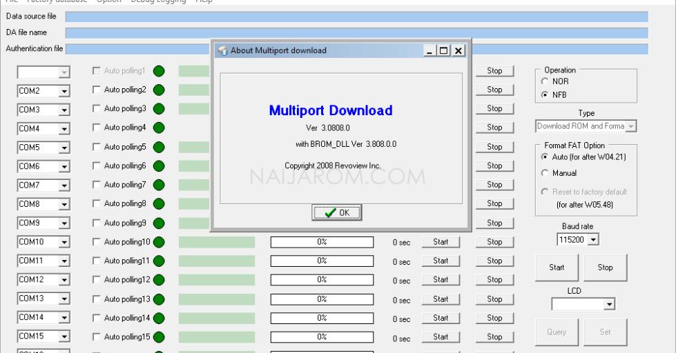 Multiport Download Tool v3.0808