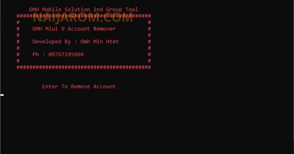 OMH Miui 9 Account Remover