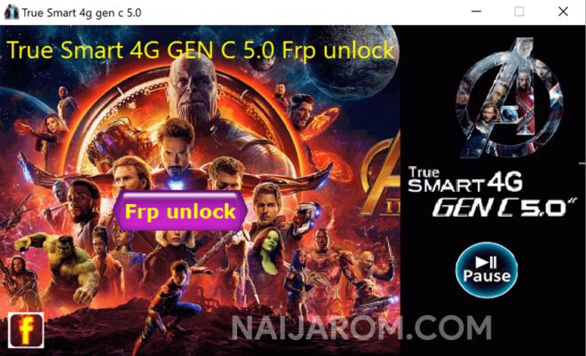 True Smart 4G Gen C 5.0 FRP Unlock Tool