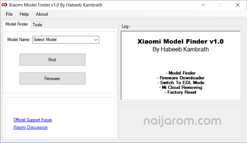 Xiaomi Model Finder