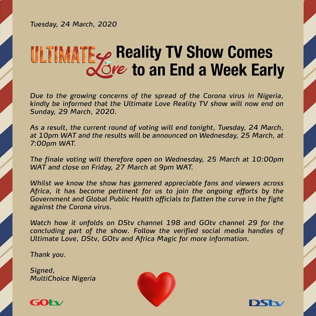 Ultimate Love TV Reality Show Comes to an End