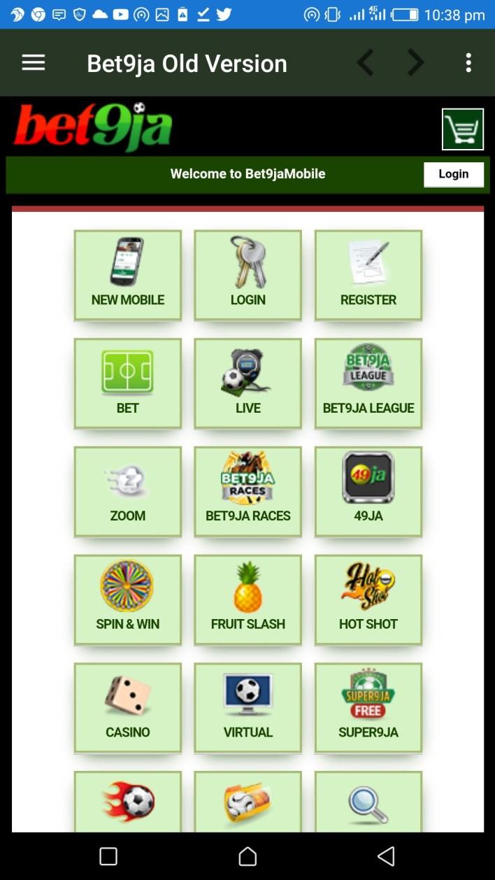 Bet9ja Mobile App Old Version