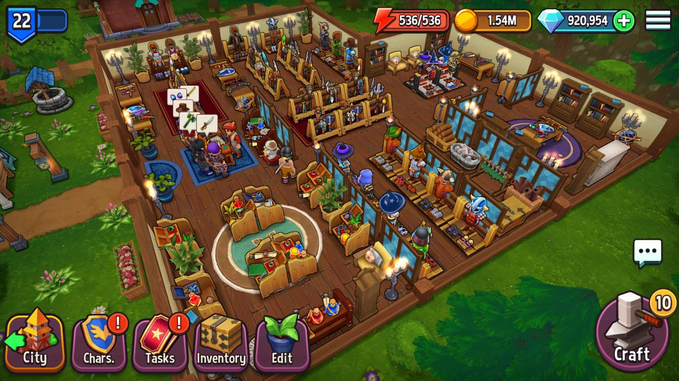 1 screen 4 - Shop Titans Mod Apk V3.7.0 (Unlimited Money & Diamond)