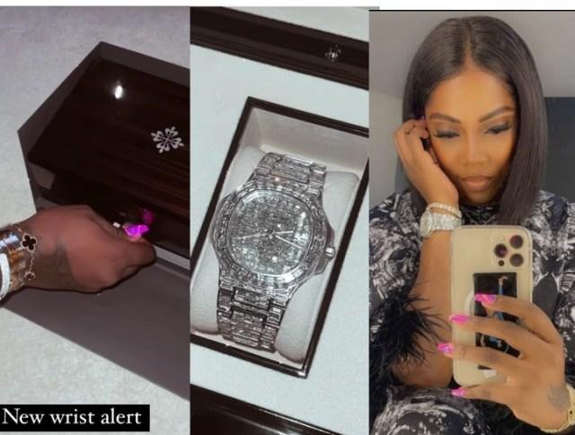 Nigeria Singer Tiwa Savage Shows Off Her New Wrist Watch Worth Millions Of  Naira - TryNaija
