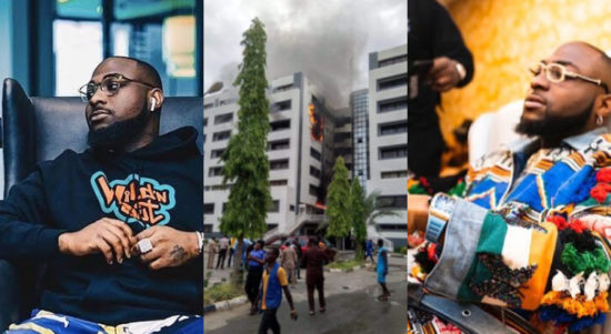 Davido Reacts To The Fire Outbreak At The Office Of The Accountant General