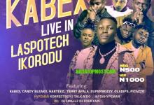 """Nigerian rapper """"Fadope"""" spotted with """"Kabex"""" and """"Terry Apala"""" at KABEX LIVE IN LASPOTECH show"""