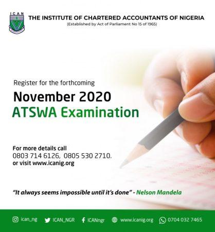 ATSWA Examination Registration for November 2020