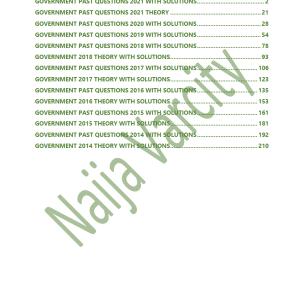 Government WAEC Past Questions