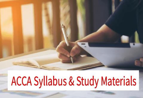 ACCA Syllabus and Study Materials 2020