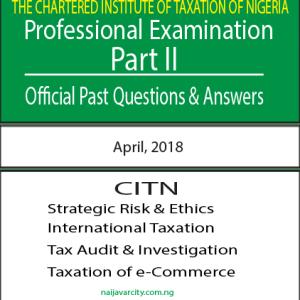 CITN Professional Examination PT II 2018