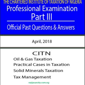 CITN Professional Examination PT3