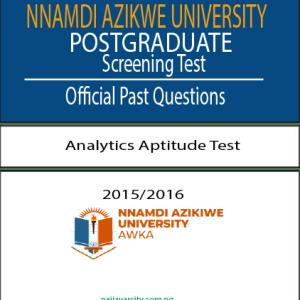 NAU Postgraduate test