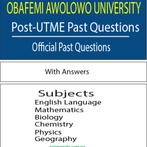 OAU Post-UTME Past Questions