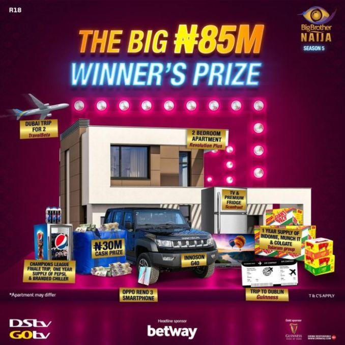 Grand Prize For BBNaija Season 5 Winner Revealed!!