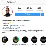 #BBNaija2020: Laycon Becomes First Housemate To Be Verified By Instagram