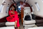 #BBNaija2020: Former BBNaija Star Ka3na Breaks The Internet With A Red Outfit On Board A Private Jet (Photo)